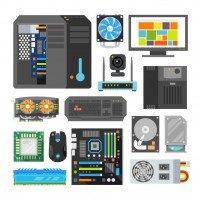 Composants - Carte mère - Carte graphique - SSD - Alimentation PC